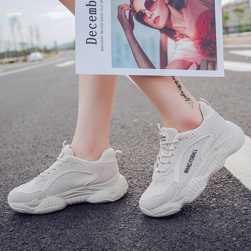 Women Shoes Fashion Women Vulcanize Shoes 4CM Chunky Sneakers Women Casual Dad Shoes Basket Femme Krasovki Platform Sneakers