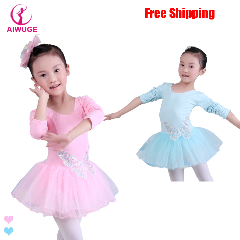 Children Kids Cotton Sequin Butterfly Professional Ballet Tutu Gymnastics Leotard Girl Dance Costume Vest Baby Tutu Dress