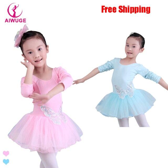 84ecbcfb39bc Children Kids Cotton Sequin Butterfly Professional Ballet Tutu ...