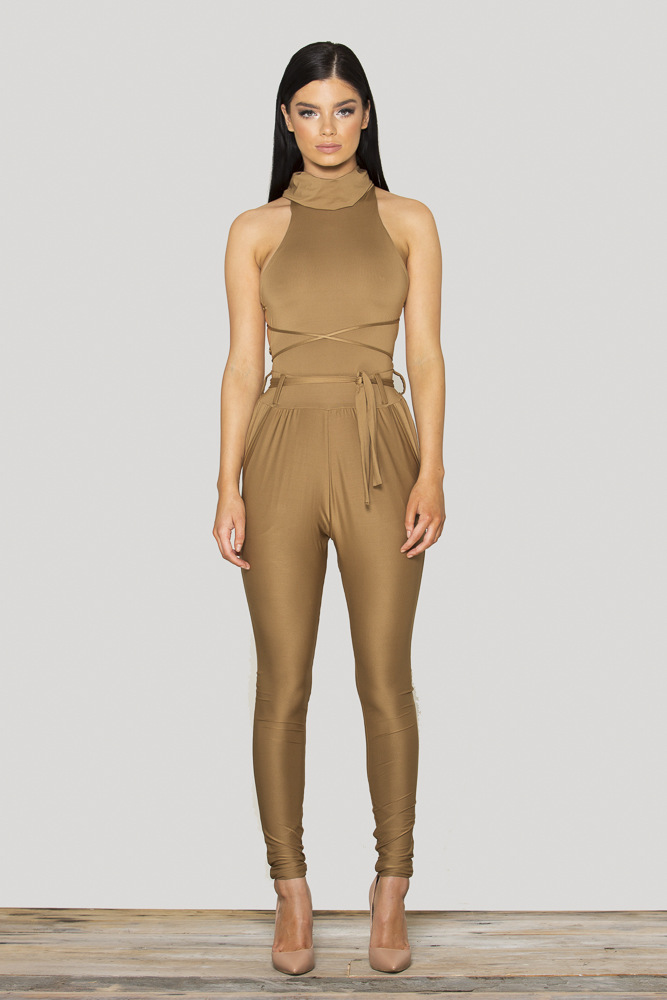 Tan Jumpsuit Womens Baggage Clothing