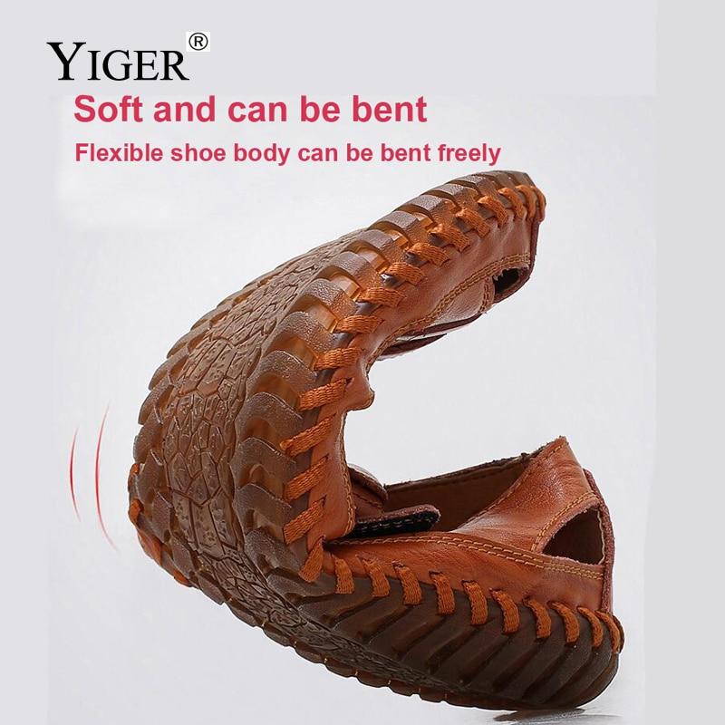 YIGER NEW Men's Genuine Leather Sandale Casual tenisice za plažu - Muške cipele - Foto 3