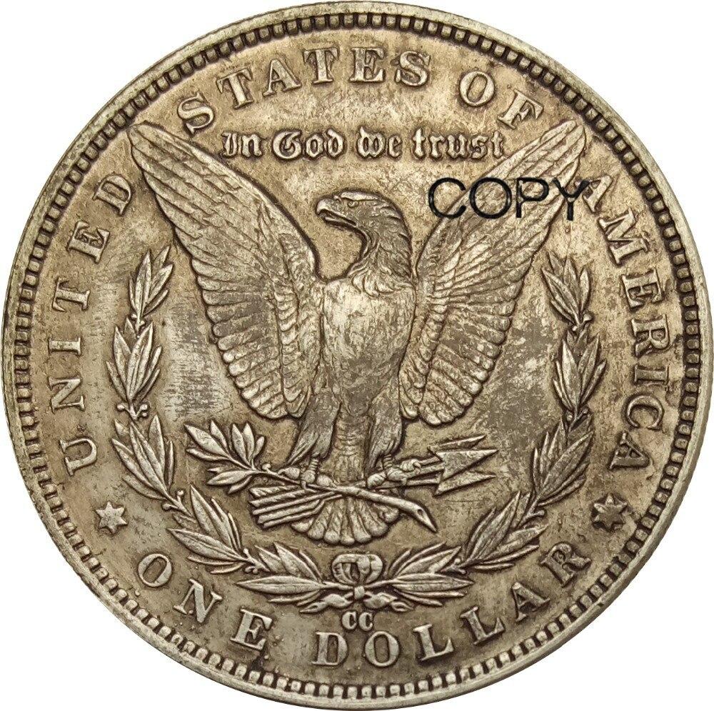 Vereinigten Staaten 1 Dollar Morgan Dollar 1885 CC 90% Silber Kopieren Münzen/Hohe Qualität-in Nichtwährungs-Münzen aus Heim und Garten bei  Gruppe 1
