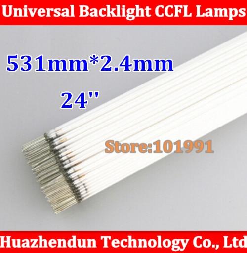 50pcs Hot Sale Supper Light CCFL 531 * 2.4 mm, 24 LCD Backlight Lamp High Quality 531mm CCFL lamp