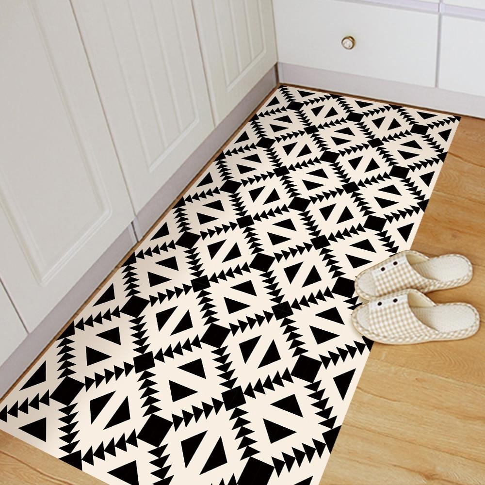 Funlife Anti Slip Floor Stickers Beige Amp Black Geometry Wall