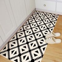 Funlife anti slip floor stickers beige&black geometry Wall Sticker Removable Floor Sticker Art Decal Home Room Bathroom DB018