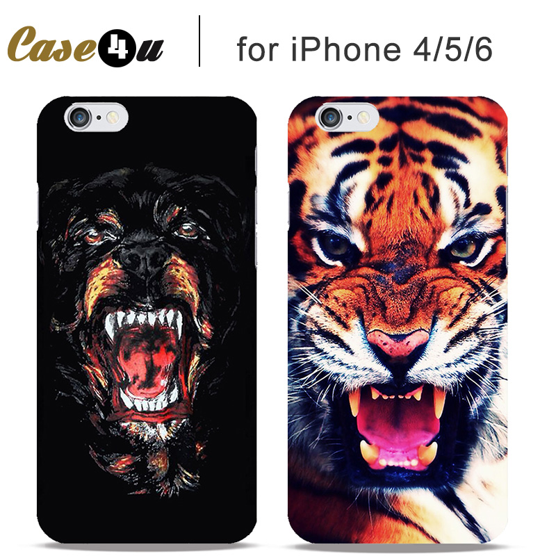 Scary fantastic wild animal hard cases cover for fundas for Iphone 5 in the wild bangkok