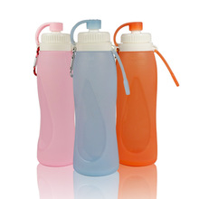 YIBO 1Pcs Food Grade Silicone Sports Water Bottle Outdoor Portable Foldable Creative Kettle Travel Sports Large Capacity Kettle wtsfwf freeshipping multiplepurpose sports bottle kettle clamp silicone rubber fixture clamp for sports bottle kettle 3d sublima