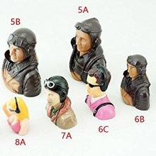 1/9 1/5 1/6 Scale Figure Pilots Toy Model With Headset Glass for RC Plane