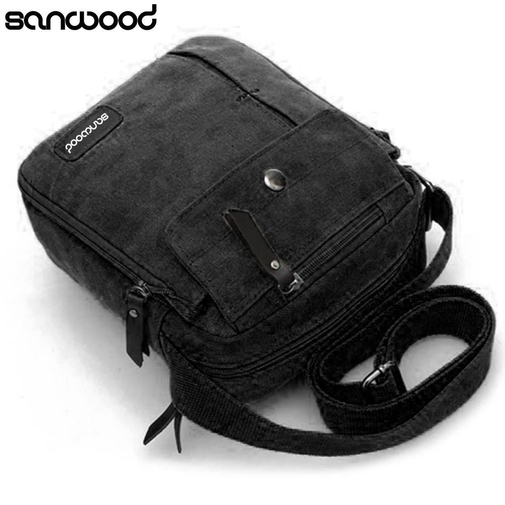New Trendy Mans Simple Causal Canvas Rucksack Multifunctional Outdoors Shoulder Sling Bag ...