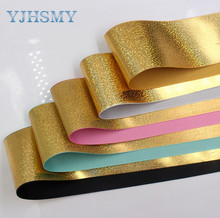 YJHSMY 1710094 3 75mm Solid color series  glitter sequins ribbon 5 yards,DIY handmade materials,wedding gift wrap