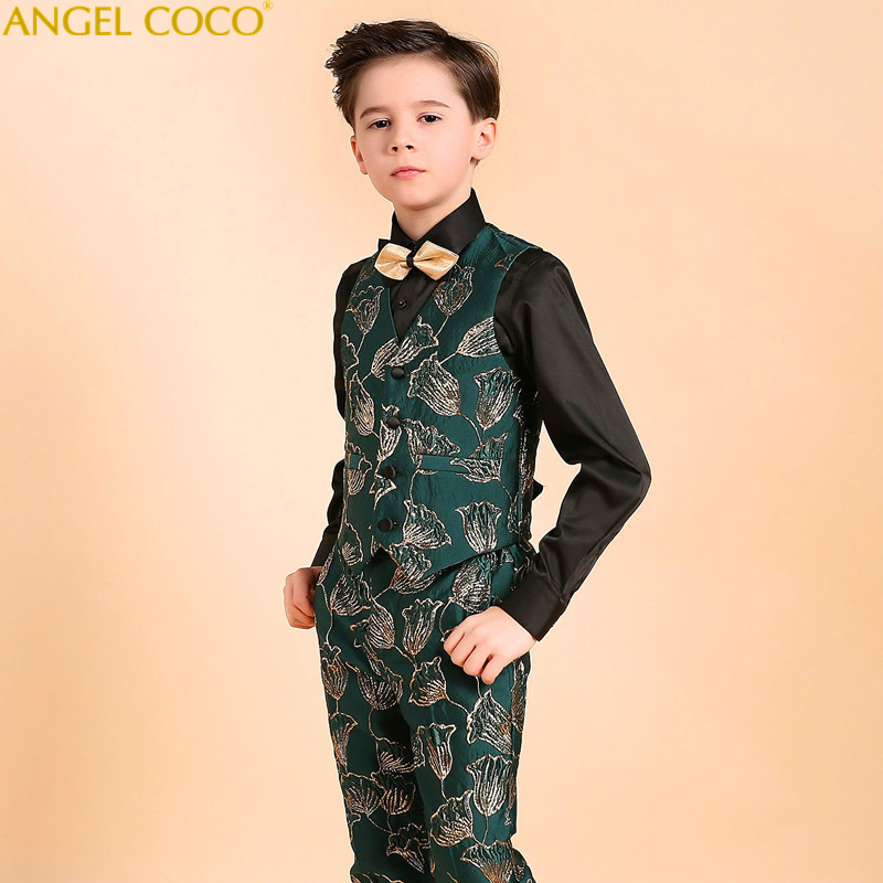 Luxury Boys blazers kids Boys suits for weddings Prom Suits Wedding Dress for Boys Kids Children Clothing Blazers for Boys 2018 student performance clothes children clothing sets boys blazers wedding sets pieces boys tuxedo suits