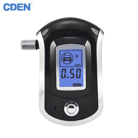 CDEN Hot Selling Professional Police Digital Breath Alcohol Tester Breathalyzer For Drivers Mouthpieces Alcohol Tester Black