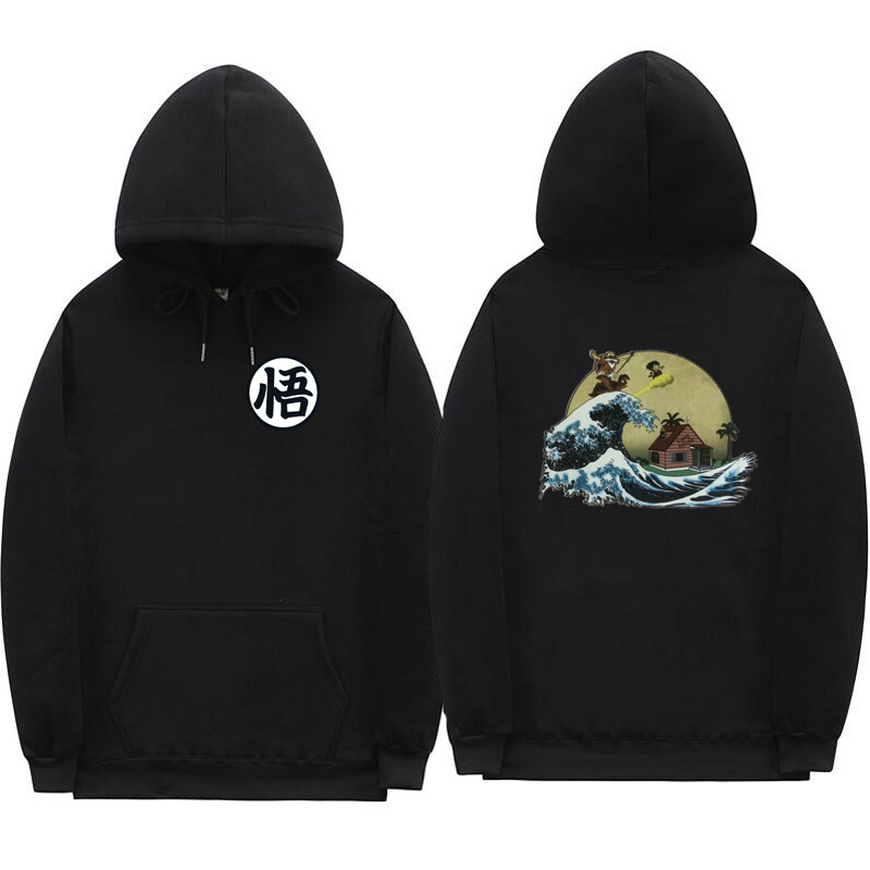Off white hoodies Druck cartoon Schildkröte Goku dragon ball hoodie poleron hombre Streetwear sudadera dragon ball hoodie sweatshirt