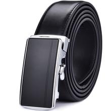 Mens Leather Ratchet Automatic Buckle Belt- Adjustable Genuine Dress Belt For Men - Click