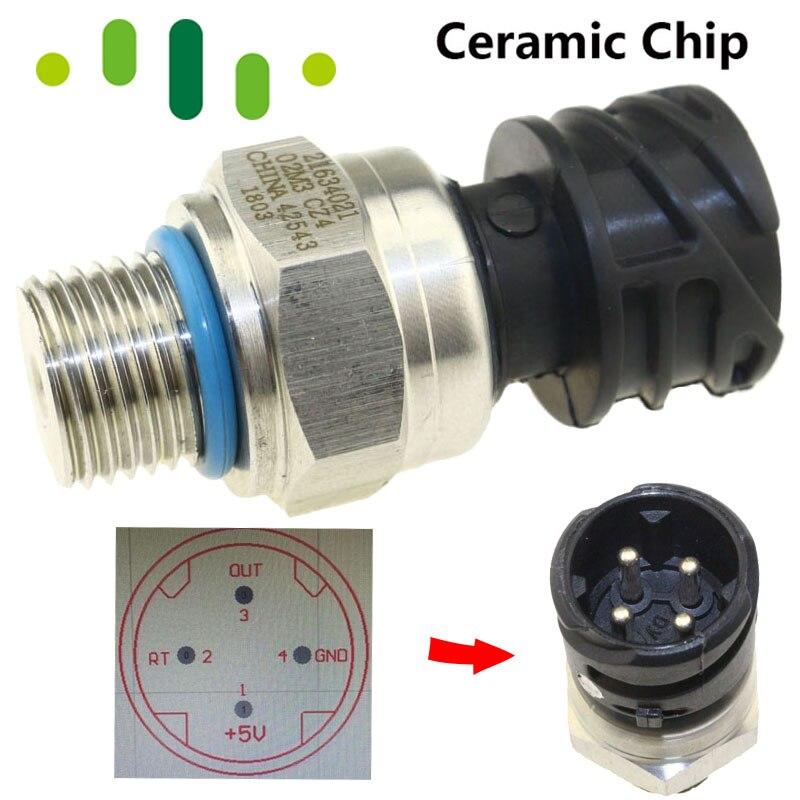 De cerámica de Sensor de Combustible Sensor de presión de aceite interruptor remitente transductor para VOLVO PENAT camión Diesel D12 D13 FH FM 21634021 de 7420484678