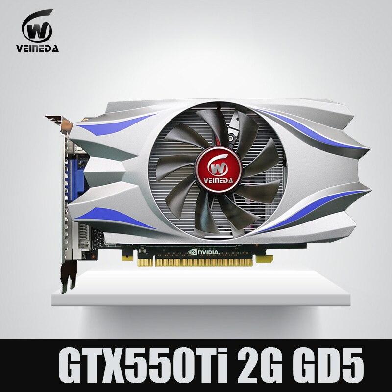 GTX550Ti 2 GB GDDR5 de $ number bits Tarjeta de vídeo Original 783/3400 MHz más fuerte que GTS450, GT730