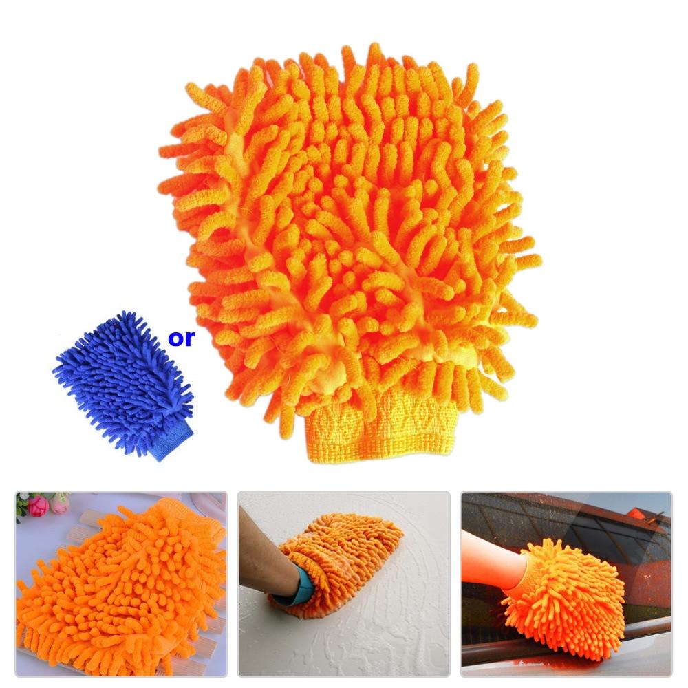 beler Car Cleaning Chenille Fiber font b Glove b font Washing Mitt Towel font b Gloves
