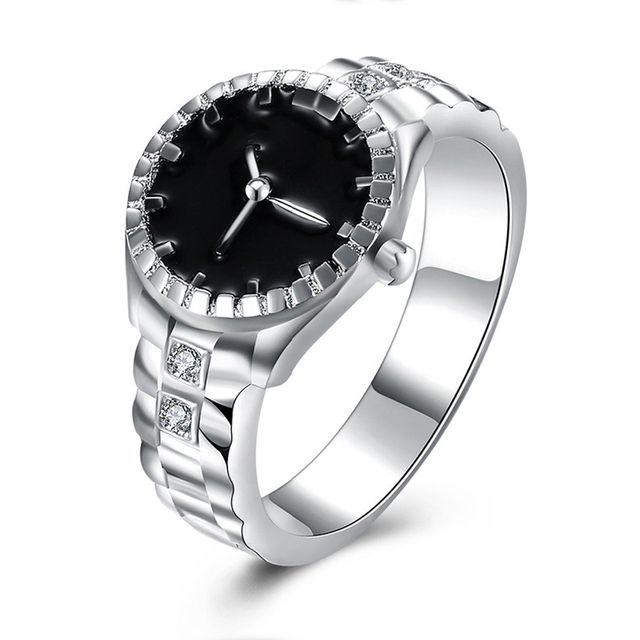 Atreus Silver Color Wedding Bands Watch Ring Casual Men And Women Jewelry Cool Sporty Costume