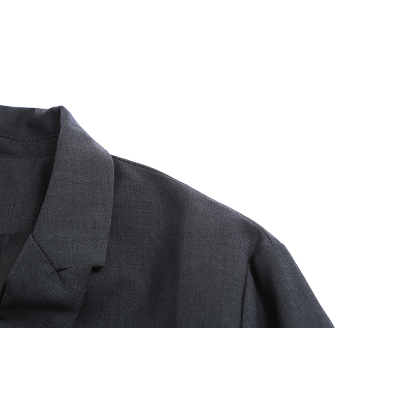 Gris Gray Longues Lâche Manches Couture Mode Bref Bandage Manteau Veste 2019 Nouveau De eam Printemps Marée Femmes Revers Jh858 UYp8xwnB
