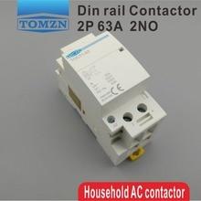 TOCT1 Американская классификация проводов 2р 63A 220 V/230 V 50/60HZ Din rail бытовой ac Контактор В соответствии с стандартом 2NO или 2NC или 1NO 1NC