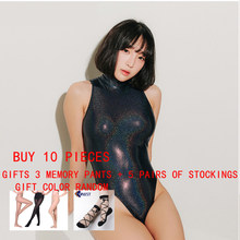 Nid femmes sexy body brillant collants serrés maillot de bain collants sexy Satin matière collants femmes sexy collants LEOHEX(China)
