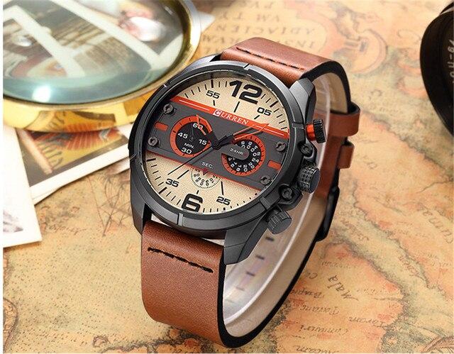 2016 CURREN Hombres Reloj de Cuarzo Relojes de Primeras Marcas de Lujo Famoso Reloj Hombre Reloj Reloj Luminoso reloj Masculino Del Relogio 6