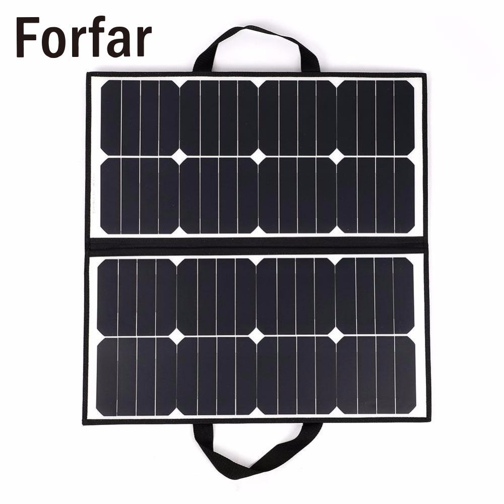 Fofar 50W 18V Portable Camping Waterproof Folding Solar Panel Charger Battery For Outdoor Camping Tool цена и фото