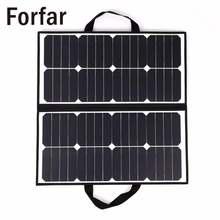 Fofar 18В 50Вт портативный Кемпинг Водонепроницаемый складной панели солнечных батарей зарядное устройство для Открытый Кемпинг инструмент
