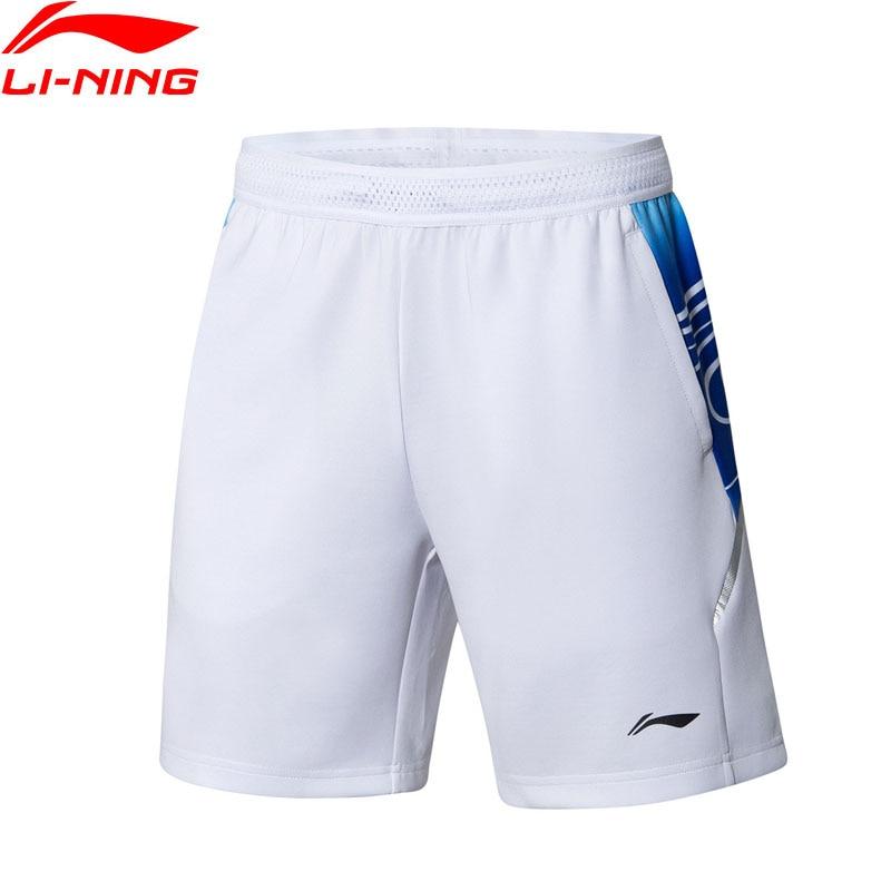Li Ning Men Badminton Shorts AT DRY BASE National Team 89 2 Polyester 10 8 Spandex