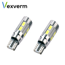 цена на 2PCS Car Styling Car Auto LED T10 194 W5W Canbus 10 SMD 5630 LED Light Bulb No Error LED Light Parking T10 LED Car Side Light