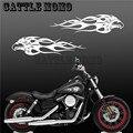 """Calcomanías de motocicleta Águila Llama Carenado Etiqueta Calcomanía Tanque de Combustible Para Sporter Touring Dyna Softiail 13 """"Motocicleta Pegatinas"""