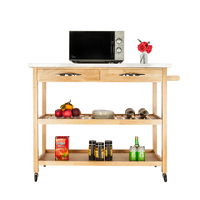 FCH Moveable Kitchen Cart with Stainless