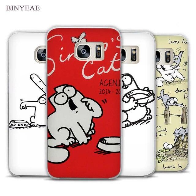 2e9858dd66d Vintage Simons CAT claro teléfono funda para Samsung Galaxy Note 2 3 4 5 7  S3