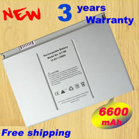 2 Year Warranty 6600mAh Laptop Battery A1189 For Apple MacBook Pro 17 Inch MA092T MA897X A