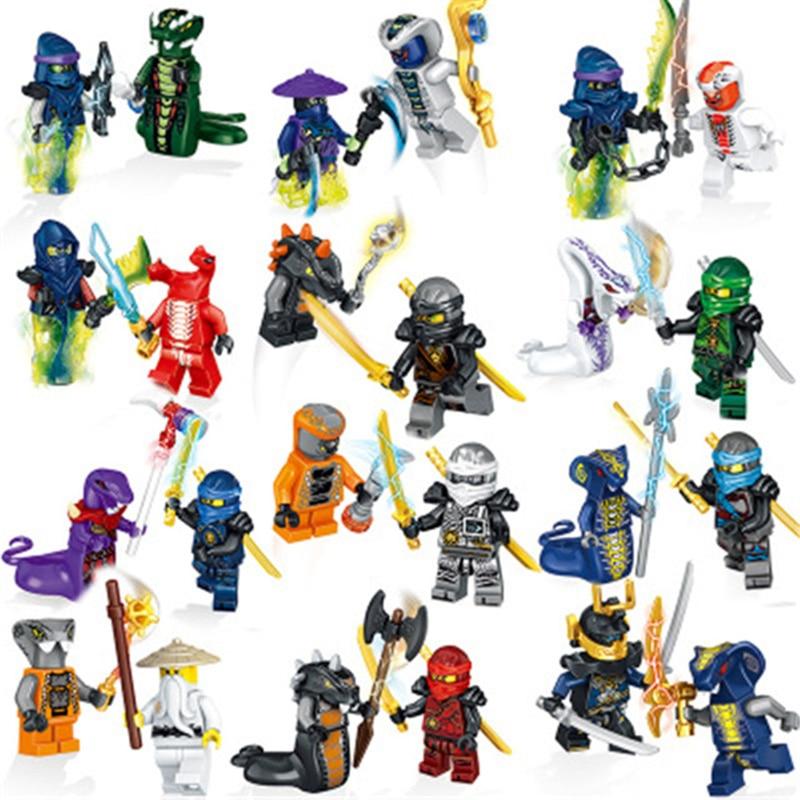 Hot 24 Stk Ninjago Mini Figuren Kai Jay Sensei Wu Master Building Blocks Toy Set