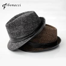 Moda algodón Sombreros de fieltro adultos sombreros de invierno para las mujeres  hombres neutral Floppy Jazz CAPS 1ec67c27fa6