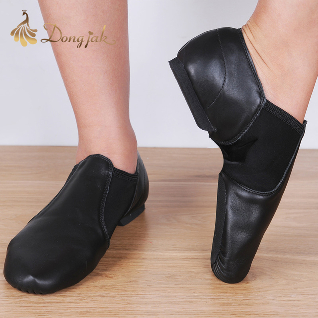 Dongjak Genuine Leather Stretch Jazz Latin Dance Shoes Salsa For Women Jazz Dancing Shoe Teachers's Dance Sandals Excercise Shoe