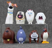 HOT CRAMPON 8pcs/set The Secret Life of Pets Snowball Gidget Mel Max Chloe Buddy PVC Action Figures Kids Toys Gifts