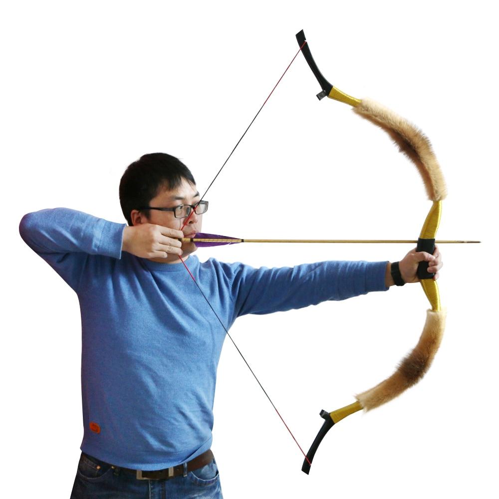 все цены на Handmade Recurve Bow Archery Longbow 45lbs 50lbs for Arrows Outdoor Hunting Shooting Training Target Practice Games Wooden Bow онлайн