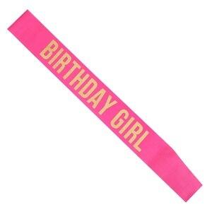 Image 3 - Aniversário menina cetim sash para 16 18 20 21 aniversário festa menina decorações favor presentes suprimentos branco rosa preto