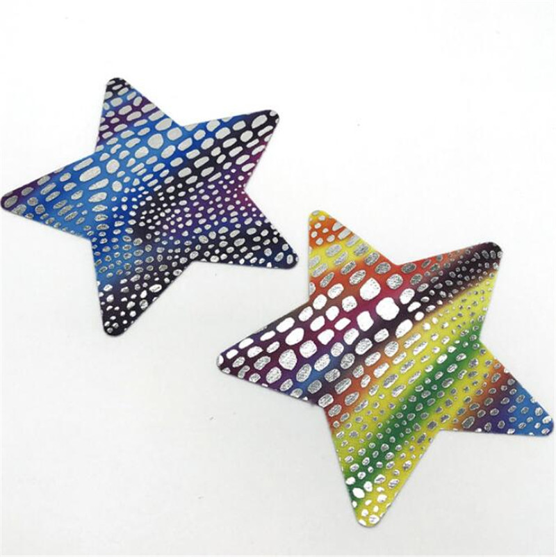 50pairs (100 Pcs) /lot woman Breast Petals Nipple Covers Ink fish scales disposable