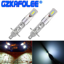Gzkafolee высокое Мощность автомобилей Туман Лампа h1 led h3 лампы CSP Y19 Seoul Semiconductor чип 1800LM белый