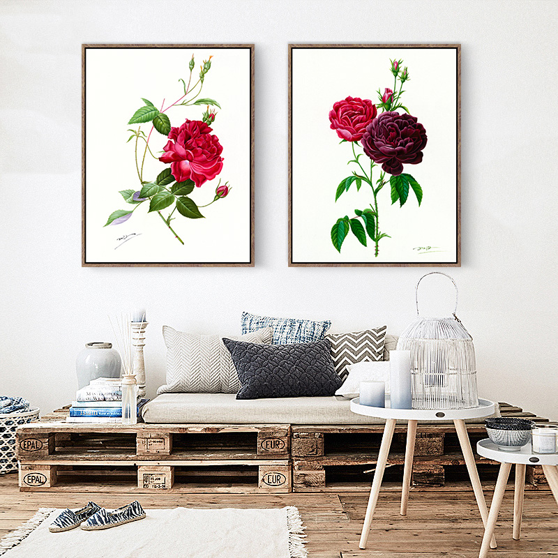 Full House Beautiful Flowers Series Bedroom Decor Art Print Posters Canvas Painting Wall Pictures Modern Home No Frame In Calligraphy From