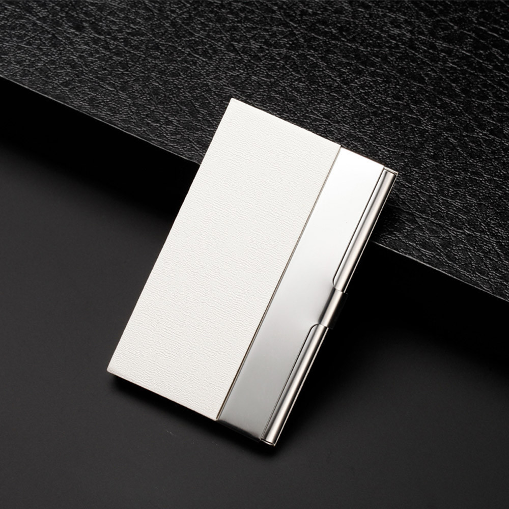 Naivety Patchwork Pocket Stainless Steel Metal Business Card Holder ...