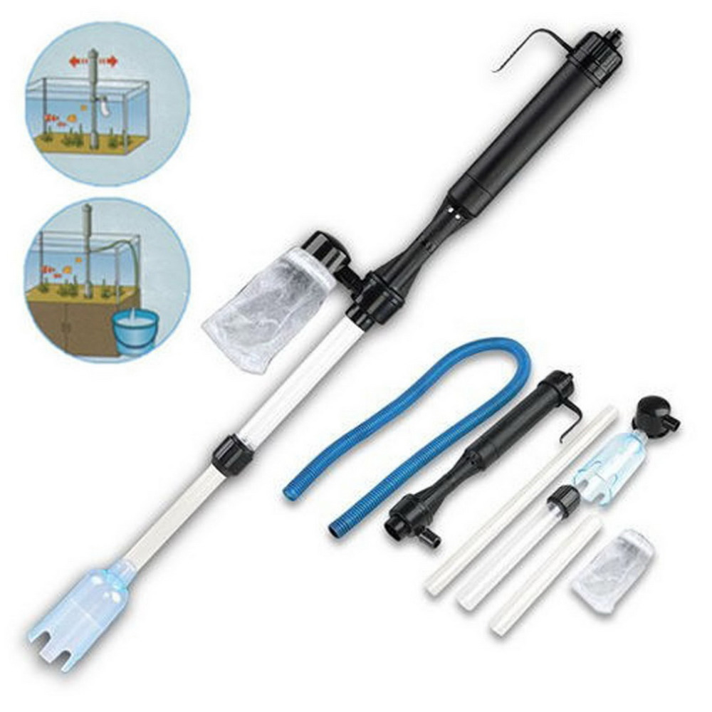 Worldwide 1pcs Siphon Cleaner Aquarium Gravel Battery Fish Tank Vacuum Pump Water Filter