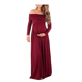 Maternity Pregnancy Clothes Dress For Photo Shoot Maxi Gown Mummy Chiffon Long Sleeve Short Sexy Photography Props S-XL Vestidos s m l xl maternity dress for photo shoot maxi maternity gown split front maternity chiffon gown sexy maternity photography props