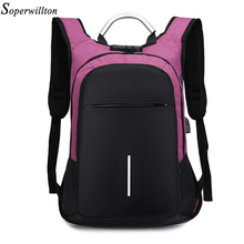 Soperwilltion Women Backpack Laptop Anti Theft Backpacks Wom