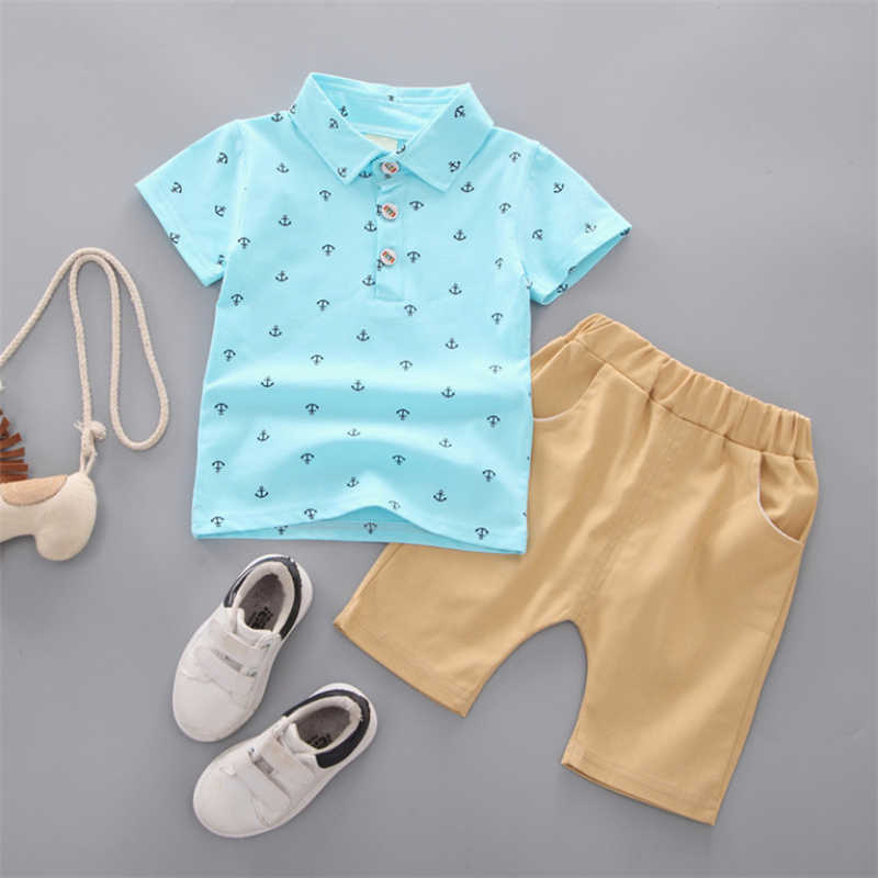 Retail Children's Clothing T-shirt & Shorts Boy's Set Summer Baby Boy 2 Pieces Sets