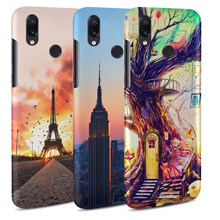 Redmi note 7pro DIY customized Case For Xaiomi Redmin note 7 3D Print Matte Back Hard Plastic Case For xiaomi Free personalize(China)
