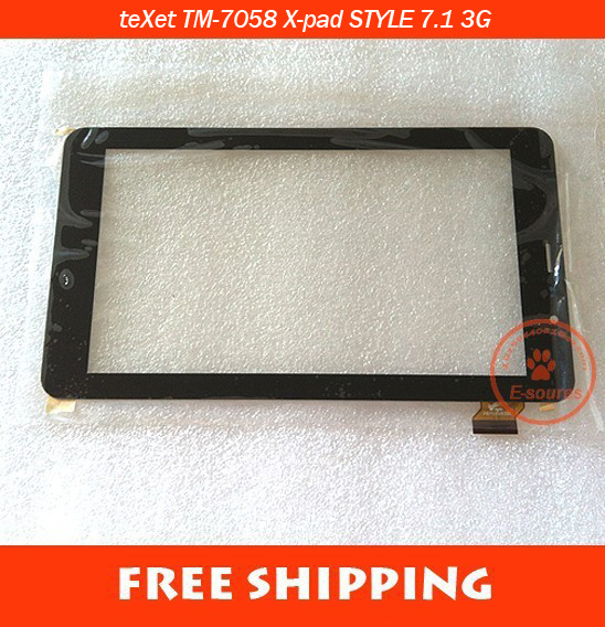 Original New touch screen Digitizer 7 teXet TM-7058 X-pad STYLE 7.1 3G Tablet Touch panel Glass Sensor Replacement FreeShipping new 7 texet tm 7076 x pad navi 7 1 3g tablet touch panel digitizer touch screen glass sensor replacement free shipping